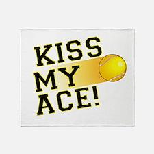 KissMyAce(tennis) copy Throw Blanket