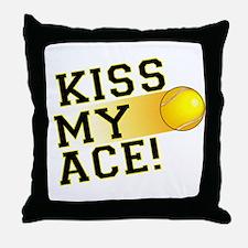 KissMyAce(tennis) copy Throw Pillow