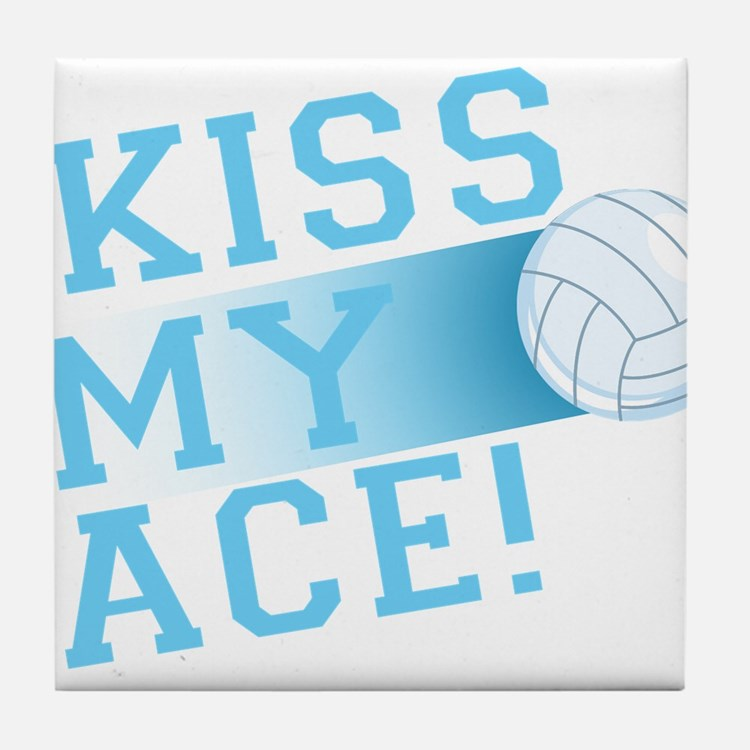 KissMyAce(volleyball) copy Tile Coaster