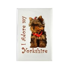 Yorkie Puppy Rectangle Magnet