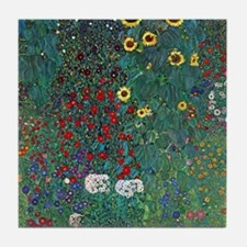 Farmergarden Sunflower by Klimt Tile Coaster