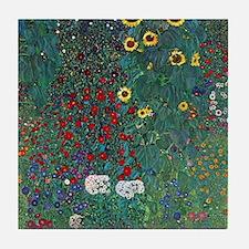Farmergarden Sunflower by Klimt Tile Coaster
