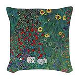 Farmergarden klimt Woven Pillows