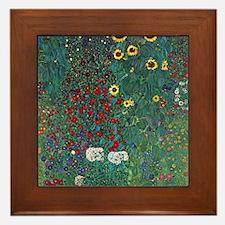 Farmergarden Sunflower by Klimt Framed Tile