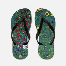 Farmergarden Sunflower by Klimt Flip Flops