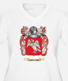 Grover Coat of Arms (Family Crest) Plus Size T-Shi