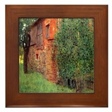 Farmhouse by Gustav Klimt Framed Tile