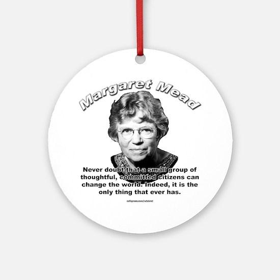 Margaret Mead 01 Ornament (Round)