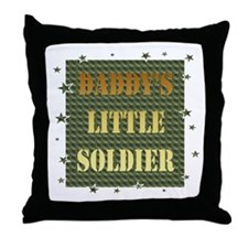 Daddy's Soldier Throw Pillow