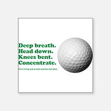 Funny How to Play Golf Shirt Design Sticker