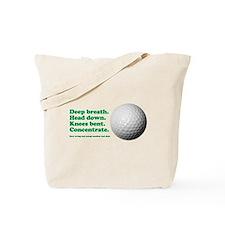Funny How to Play Golf Shirt Design Tote Bag