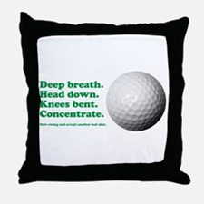 Funny How to Play Golf Shirt Design Throw Pillow