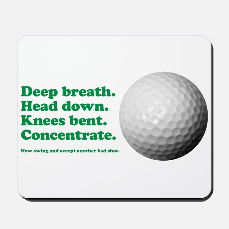 Funny How to Play Golf Shirt Design Mousepad