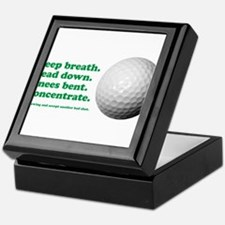 Funny How to Play Golf Shirt Design Keepsake Box