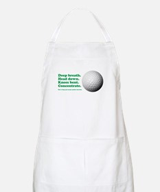 Funny How to Play Golf Shirt Design Apron