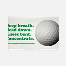 Funny How to Play Golf Shirt Design Rectangle Magn