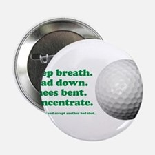 "Funny How to Play Golf Shirt Design 2.25"" Button"