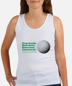 Funny How to Play Golf Shirt Design Tank Top