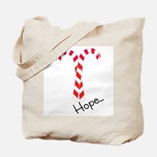 Christmas Candy Canes: Hope Tote Bag