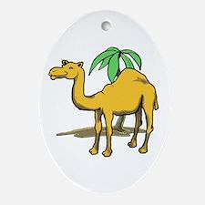 Cute camel Ornament (Oval)