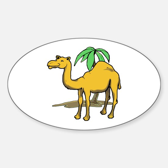 Cute camel Sticker (Oval)