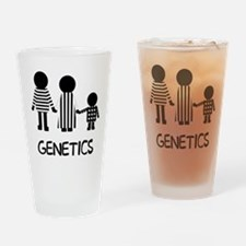 Genetics Stripes Drinking Glass