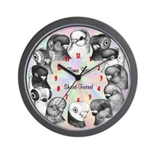 Short-faced Pigeons Wall Clock