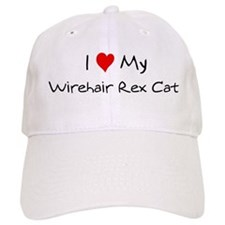 Love My Wirehair Rex Cat Baseball Cap