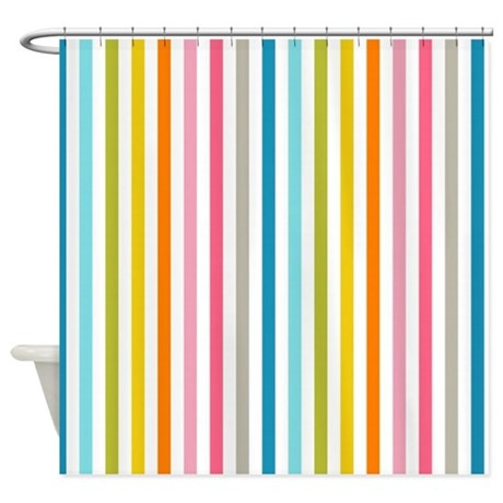 Stripes Background Colorful Shower Curtain By Allcolor