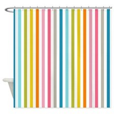 stripes background colorful Shower Curtain