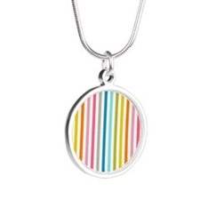 stripes background colorful Necklaces