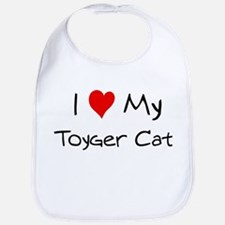 Love My Toyger Cat Bib