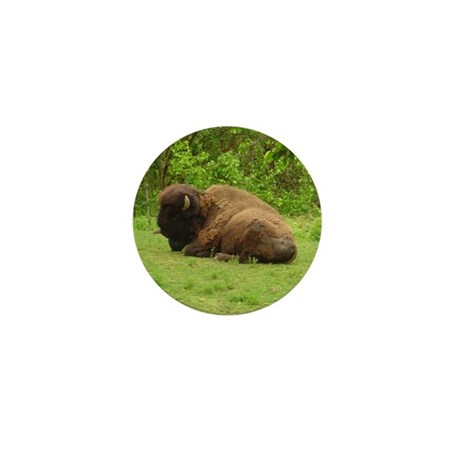 bison bull Mini Button