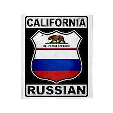 California Russian American Throw Blanket