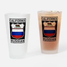 California Russian American Drinking Glass