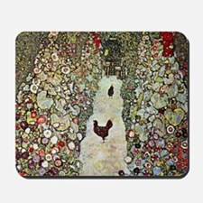 Garden Path with Chickens by Klimt Mousepad