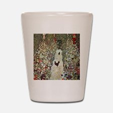 Garden Path with Chickens by Klimt Shot Glass