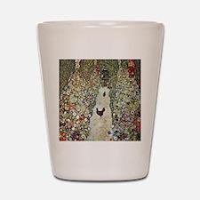 Garden Path with Chickens by Klimt Shot Glass