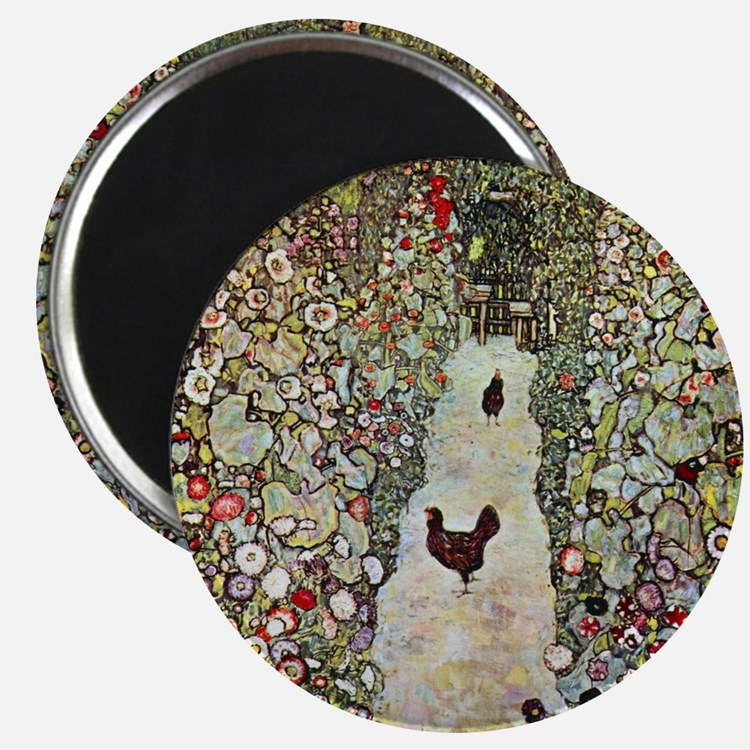 Garden Path with Chickens by Klimt Magnet