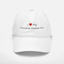 Love My Snowshoe Siamese Cat Baseball Baseball Cap