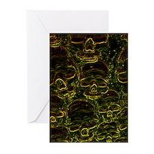 Glowing Neon Skulls Greeting Cards (Pk of 20)
