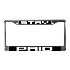 Stay Paid License Plate Frame