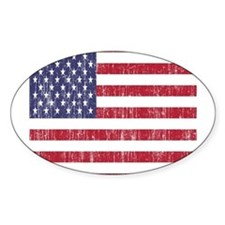 Distressed American Flag Decal