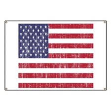 Distressed American Flag Banner