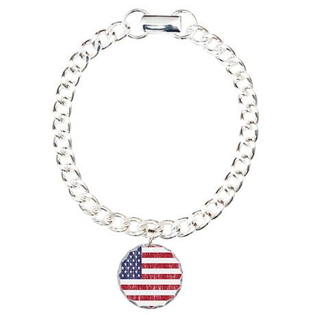 Distressed American Flag Bracelet