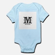 Michaela: Fancy Monogram Infant Bodysuit