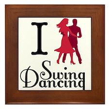 I (dance) Swing Framed Tile