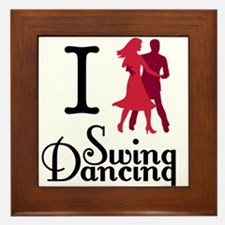 I (dance) Swing Framed Tile