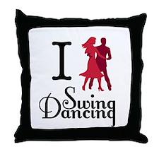 I (dance) Swing Throw Pillow