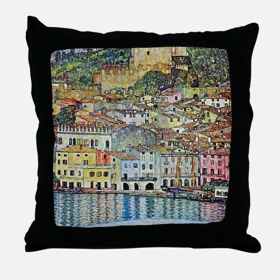 Malcesine on Lake Garda by Gustav Kli Throw Pillow